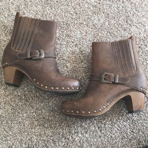 Dansko leather ankle booties